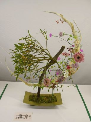板橋の生花市場でのコンテスト入賞作品(2003年)